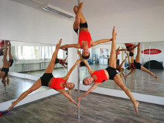 Мастер класс акробатики на пилоне в Таллине